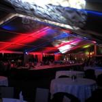Dekoracja światłem namioty